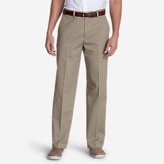 Men's Dress Performance Flat-Front Khakis - Classic in White