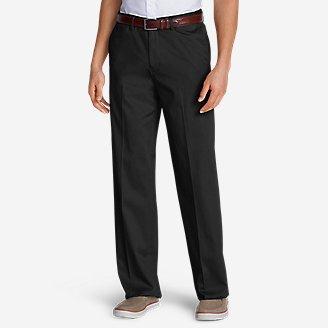 Men's Dress Performance Comfort-Waist Flat-Front Khakis - Relaxed in Black
