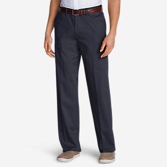 Men's Dress Performance Comfort-Waist Flat-Front Khakis - Relaxed in Blue