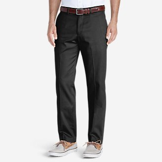 Men's Dress Performance Flat-Front Khakis - Slim in Black