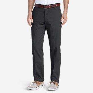 Men's Dress Performance Flat-Front Khakis - Slim in Gray