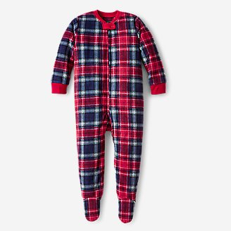 Infant Quest Fleece Footed One-Piece in Red