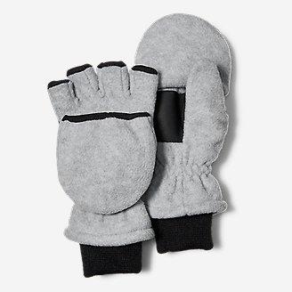 Kids' Quest Fleece Convertible Mittens in Gray