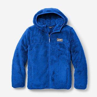 Kids' Quest Plush Fleece Hooded Jacket in Blue