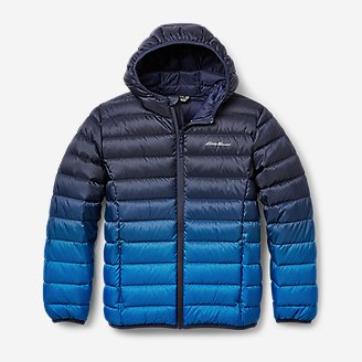 Kids' CirrusLite Down Hooded Jacket in Blue