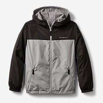 Kids' Windy Ridge Reversible Jacket in Gray