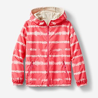 Kids' Windy Ridge Reversible Jacket - Print in Orange