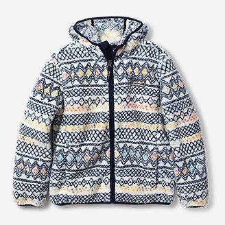 Kids' Quest Plush Fleece Hooded Jacket - Print in Beige