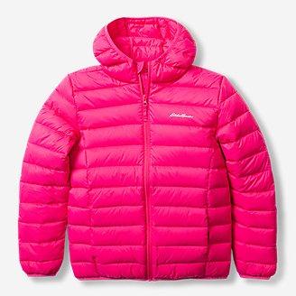 Kids' Cirruslite Down Hooded Jacket in Red