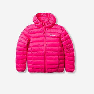 Toddler Cirruslite Down Hooded Jacket in Red