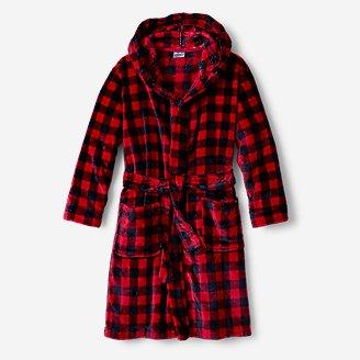 Kids' Quest Fleece Robe in Red