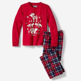 Kids' Quest Fleece Sleep Set in Red
