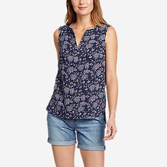 Women's Carry-On Tank Top in Blue