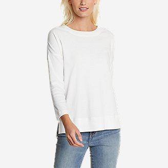 Women's Favorite 3/4-Sleeve Drop-Shoulder T-Shirt in White
