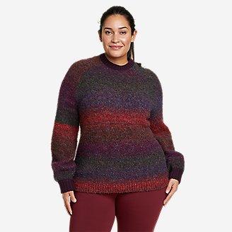 Women's North Aurora Crewneck Sweater in Purple