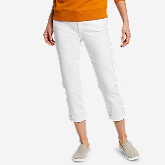 Women's Boyfriend Denim Crop Jeans in White