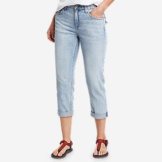 Women's Boyfriend Denim Crop Jeans in Blue