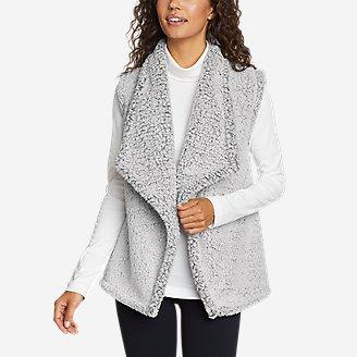 Women's Fireside Plush Vest in Gray