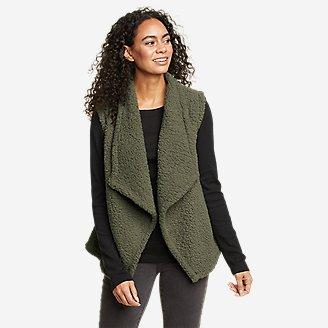 Women's Fireside Plush Vest in Green