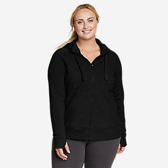 Women's Motion Cozy Camp Full-Zip Sweatshirt in Black
