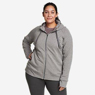 Women's Motion Cozy Camp Full-Zip Sweatshirt in Gray