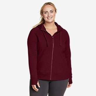 Women's Motion Cozy Camp Full-Zip Sweatshirt in Red