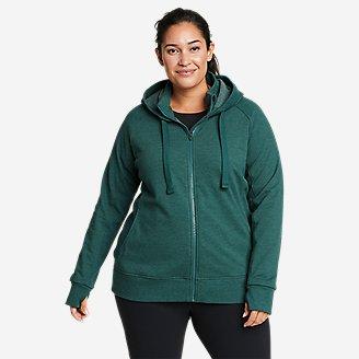 Women's Motion Cozy Camp Full-Zip Sweatshirt in Green