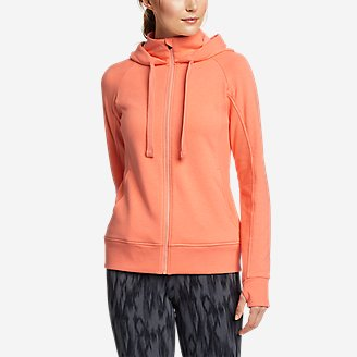 Women's Motion Cozy Camp Full-Zip Sweatshirt in Green