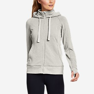 Women's Motion Cozy Camp Full-Zip Sweatshirt in Gray
