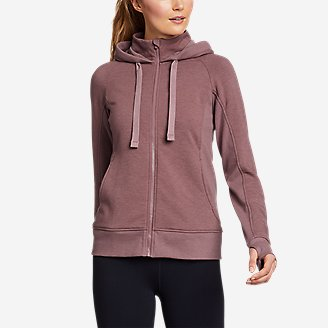 Women's Motion Cozy Camp Full-Zip Sweatshirt in Pink