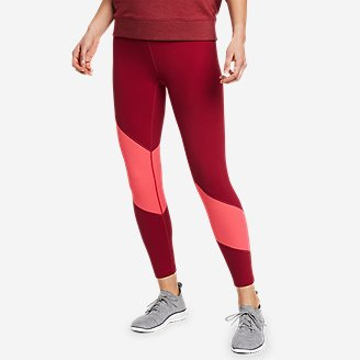Women's Movement Lux High-Rise 7/8-Length Leggings - Color-Block in Red