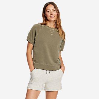 Women's Motion Short-Sleeve Sweatshirt in Green