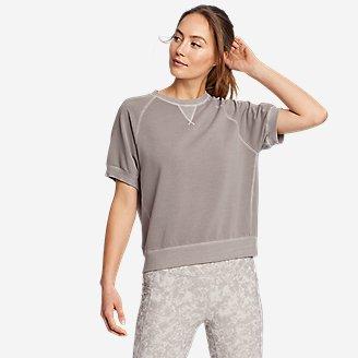 Women's Motion Short-Sleeve Sweatshirt in Gray
