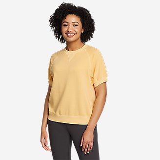 Women's Motion Short-Sleeve Sweatshirt in Yellow