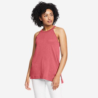 Women's Gate Check High-Neck Tank Top in Red