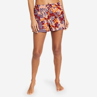 Women's Tidal Shorts - Print in Red
