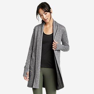 Women's Treign Long-Line Wrap in Gray
