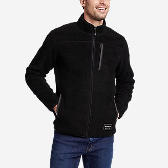 Men's Chilali Sherpa-Fleece Full-Zip Mock in Black