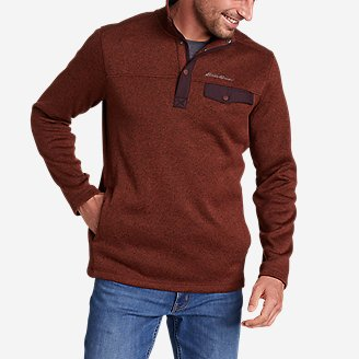 Men's Radiator Fleece 2.0 Snap Mock in Brown