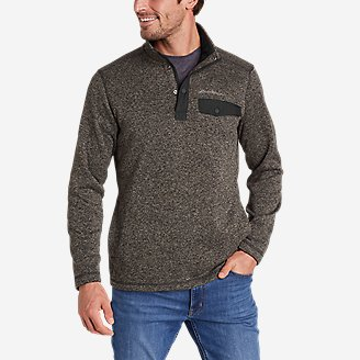 Men's Radiator Fleece 2.0 Snap Mock in Gray