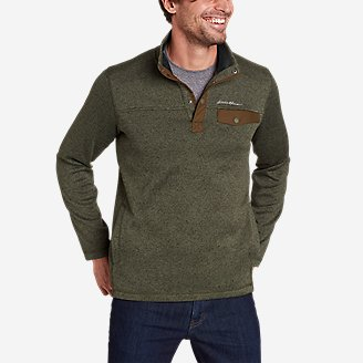 Men's Radiator Fleece 2.0 Snap Mock in Green