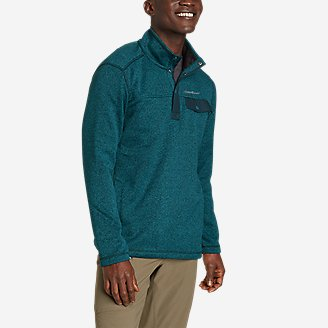 Men's Radiator Fleece 2.0 Snap Mock in Blue