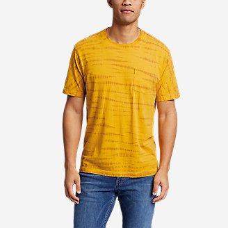 Men's Legend Wash Tie-Dye T-Shirt in Yellow