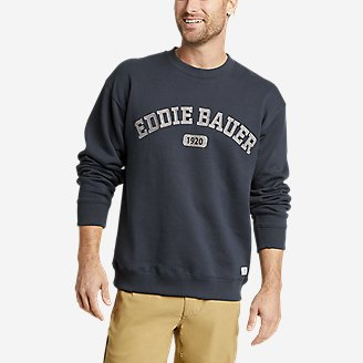 Men's Eddie Bauer Signature Logo Sweatshirt in Blue