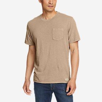 Men's Earth Wash Slub Short-Sleeve Pocket T-Shirt in Brown
