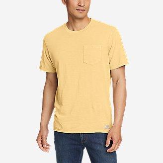 Men's Earth Wash Slub Short-Sleeve Pocket T-Shirt in Beige