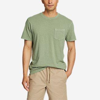 Men's Earth Wash Slub Short-Sleeve Pocket T-Shirt in Green