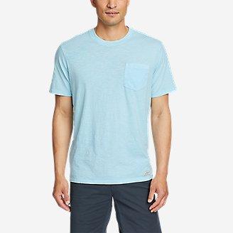Men's Earth Wash Slub Short-Sleeve Pocket T-Shirt in Blue