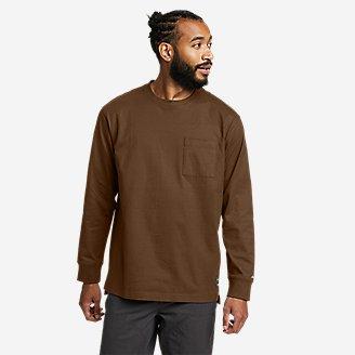 Men's Mountain Ops Long-Sleeve T-Shirt in Brown