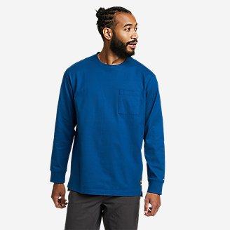 Men's Mountain Ops Long-Sleeve T-Shirt in Blue
